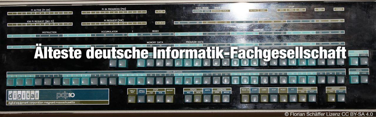 Älteste deutsche Informatik-Fachgesellschaft - gegründet 1968